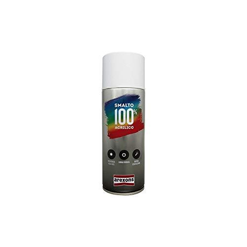 AREXONS SMALTO 100% ACRILICO Smalto spray Speciale per Elettrodomestici 400 ml vernice spray universale, smalto acrilico resine di alta qualità, essiccazione rapida, bomboletta spray, uso facile