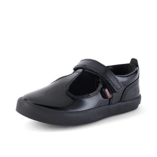 Kickers Girl's Kariko T-Strap Mary Jane School Shoes, Black (Black), 11 UK