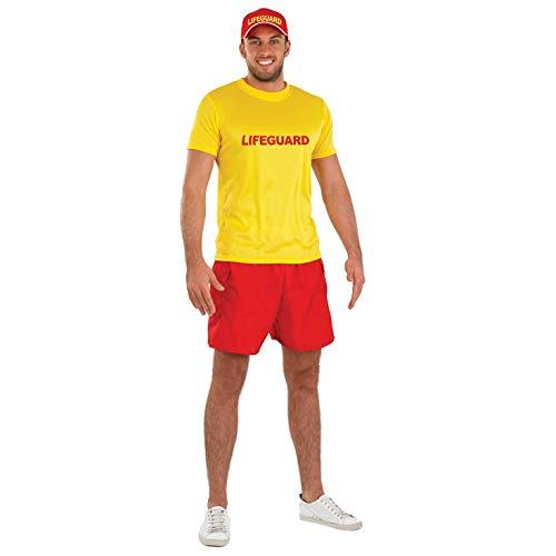 Fun Shack Gelbes Bademeister Kostüm für Herren - XL