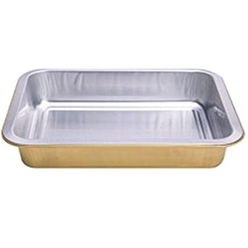 SCHSP Bandejas de Aluminio Desechables Parrilla al Aire Libre de Bandejas Recipientes Portátiles para Alimentos 10 Piezas 1000ml Hornear Asar Parrilla y Cocinar