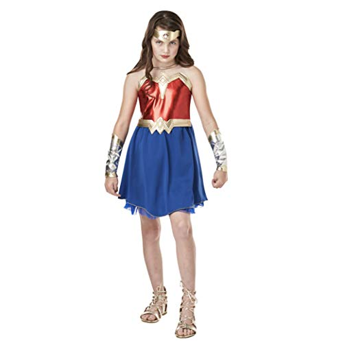 Rubie's- Costume per Bambini, Wonder Woman, Multicolore, L, IT640816, 9/10 anni