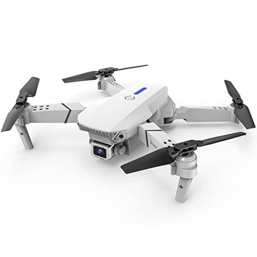 Zylina Dron con mando a distancia E88, cámara plegable con doble cámara Profession Elle 4K HD RC Mini Drone Cuadricóptero portátil para principiantes