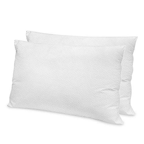 Soft-Tex Restonic 2 Pack Hotel Quality Gel Fiber Bed Pillow, Jumbo, White