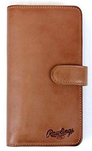 Rawlings Universal Magnetic Leather Phone Wallet With Tab, Tan