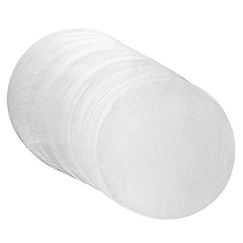 Papel para hornear, papel absorbente de aceite de pergamino resistente a altas temperaturas, papel redondo para barbacoa, para cocinar, cocer, vapor, pasteles, horno holandés