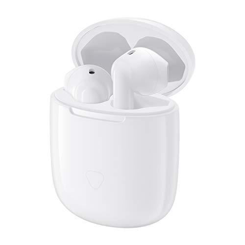 SoundPEATS Audifonos Bluetooth, Audifonos Inalambricos Bluetooth 5.0 True Air aptX Audio Control Táctil 14.2mm Inteligente Sonido Estéreo Sonido cVc Cancelación de Ruido Manos Libres Micrófono Incorporado con Estuche de Carga Portátil QCC3020 30 Horas para iOS y Android