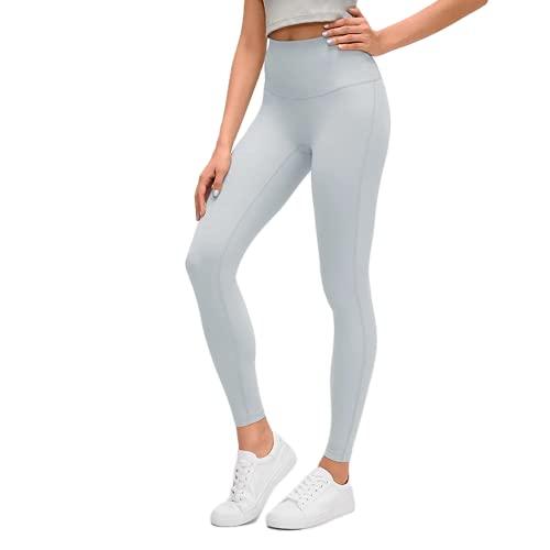 QTJY Leggings Deportivos Desnudos Suaves para Mujer, Cintura Alta, Estiramiento, Levantamiento de Cadera, Pantalones de Yoga, Push-ups, Pantalones de Entrenamiento para Celulitis, D L