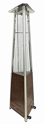 Hiland HLDS01-CGTHG Hiland-HLDS01-CGTHG-Commercial Glass Tube Patio Heater, Bronze