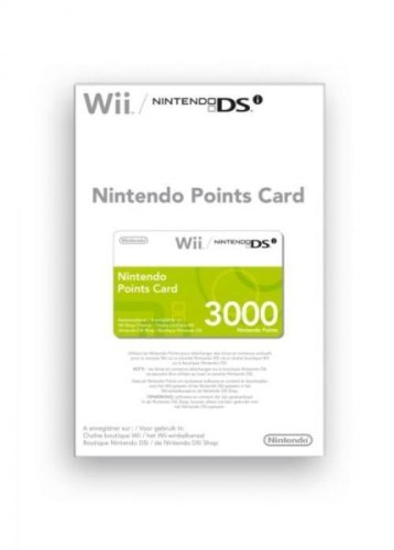 Carte à points Nintendo (3000 points) pour Wii et DSi