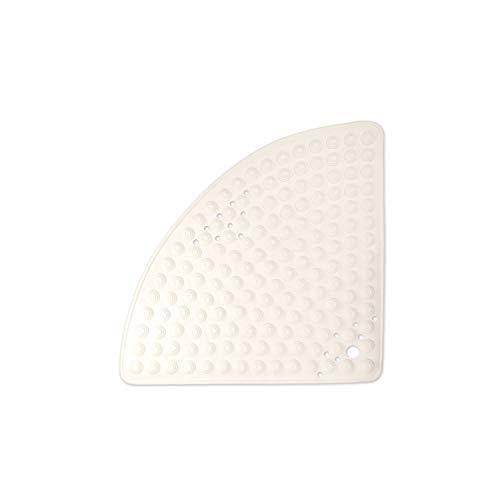 WohnDirect Duschmatte Creme/halbrund 58cm • rutschfest & sehr robust • Antirutschmatte für Dusche oder Badewanne • waschbar bei 60°C