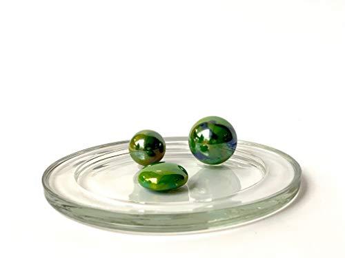 Divers- Famille MesBilles-Les Glossy Vert-3 Verre, Mini-Calot, Bille Plate de 20 mm à 14 mm, XA-5HFES-FI45, 8 cm