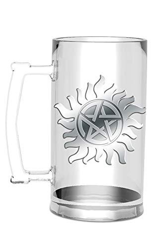 empireposter Supernatural - Anti Possession - Glas Bierglas Glass Bierkrug Fanartikel - ca. 500 ml
