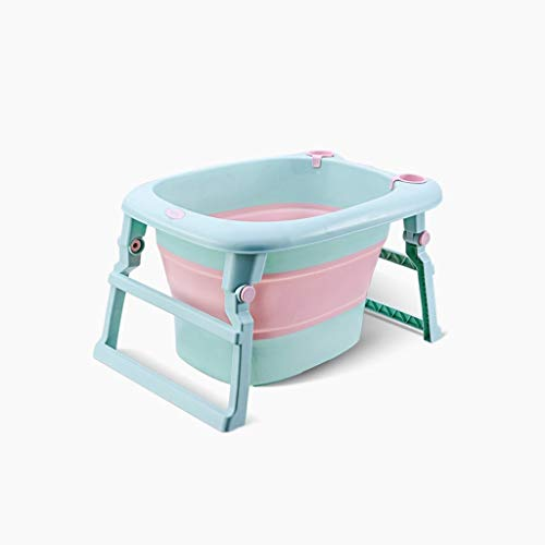 Sdfhh Bathroom Kids Portable Folding Bathtub Swimming Pool Large Freestanding Corner Bathtub Bath Bucket for Adult The Best Helper in The Bathroom (Color : Blue)