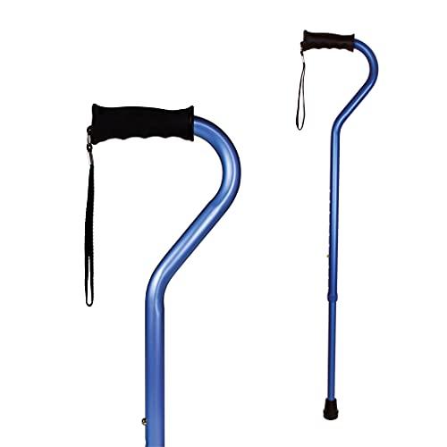 carex health brands canes Carex Health Brands Ergo Offset Cane with Soft Cushioned Handle - Adjustable Walking Cane, Blue