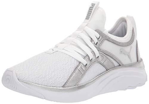 PUMA SOFTRIDE Sophia, Zapatillas para Correr Mujer, Blanco metálico Plateado, 38 EU