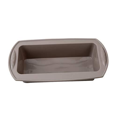Idiytip Silikon Brotbackform Königskuchenform Kastenform Brotbackform Kuchenform Rechteckige Toast Box,grau