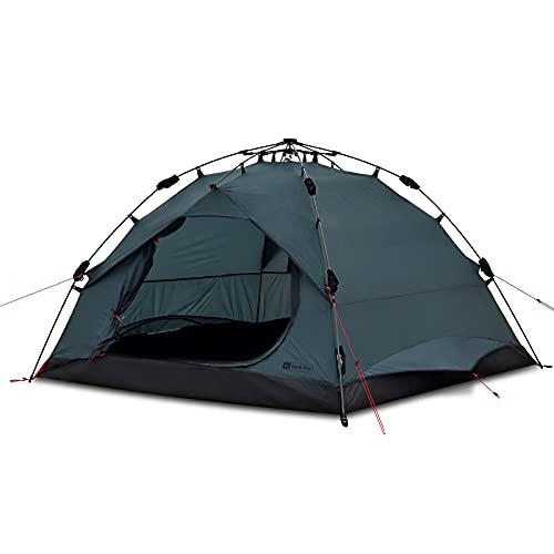 Qeedo Quick Pine 3 Campingzelt, Sekundenzelt mit Quick-Up-System - Sharkgrey