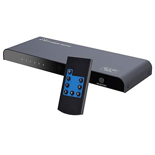 AGPTEK 4 K * 2 K 3D 5 x 1 HDMI 2.0 Switch Auto EDID | RS232 Control| Wireless IR Fernbedienung Controller für Konferenz Ausstellung Sicherheit und Digital Überwachung