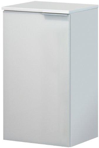 FACKELMANN Unterschrank KARA / Badschrank mit Soft-Close-System / Maße (B x H x T): ca. 41 x 70 x 32 cm / hochwertiger Schrank fürs Bad / Türanschlag links / Korpus: Weiß matt / Front: lackiertes Glas in Weiß