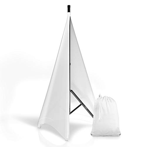 Pyle PSCRIM2W Universal Light Tripod Stand Scrim Skirt Trim DJ Speaker - White