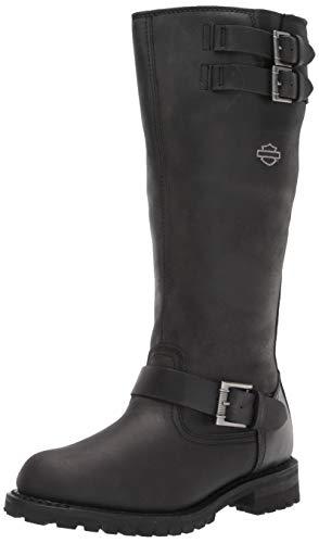 HARLEY-DAVIDSON FOOTWEAR Women's Bremerton 14' w/bkl Motorcycle Boot, Black, 6.5