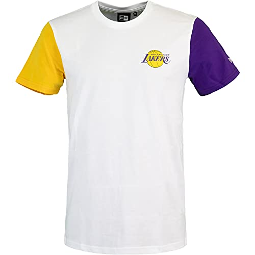 New Era NBA Color Block L.A. Laker - Camiseta blanco L