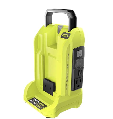 RYOBI RYi300BG-CMB6 300-Watt Powered Inverter for 40-Volt Battery with 6.0 Ah Battery and Rapid Charger