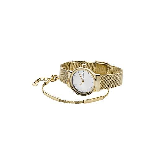 Skagen Damen Analog Quarz Uhr mit Edelstahl Armband SKW1108