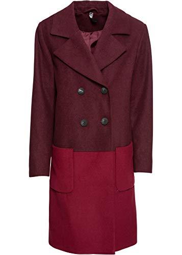 bonprix Modischer Mantel in Wolloptik mit Knöpfen dunkelrot 36 für Damen