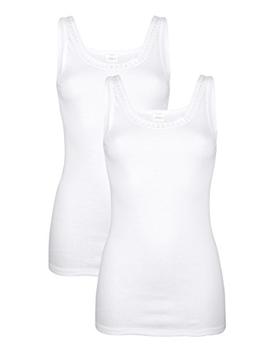 Harmony Damen Unterhemden 2X weiß