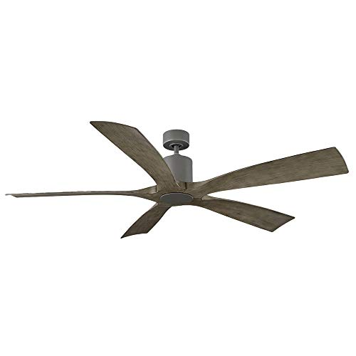 Aviator Indoor and Outdoor 5-Blade Smart Ceiling Fan 70in Graphite Weathered Gray with Wall Control (Light Kit Sold Separately)