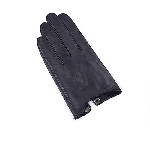Guantes cálidos de invierno for hombre Guantes de cuero genuinos masculinos suaves de piel de cabra delgada moda delgada guantes de conducción casual cálido invierno pantalla táctil guantes de muñeca