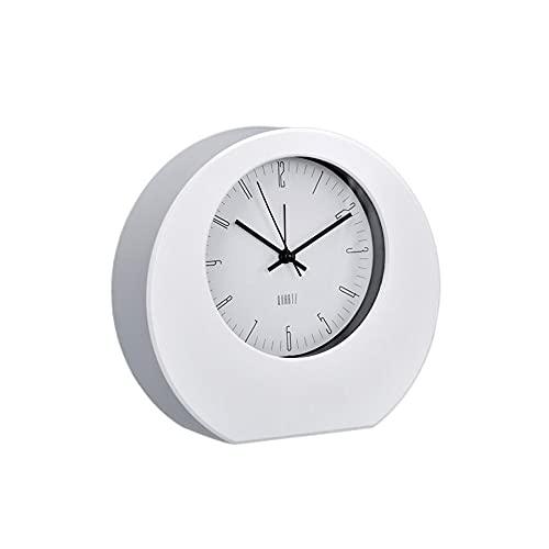 Clásico Reloj Despertador Analogico Blanco · Reloj de Mesa con Mecanismo de Cuarzo y Alarma · Reloj Sobremesa Ideal para Regalar en Cualquier Momento