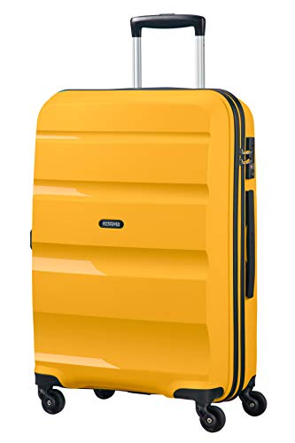 American Tourister Bon Air - Spinner Medium Suitcase, 66 cm, 57.5 liters, Yellow (Light Yellow)