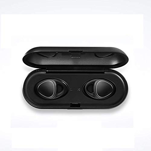 SAILORMJY Bluetooth Draadloze Oordoppen, Oordopjes in-Ear Hoofdtelefoons, Sport Oordopjes, Mini Draagbare Onzichtbare Headset met Opladen Doos voor iOS, Android Zwart