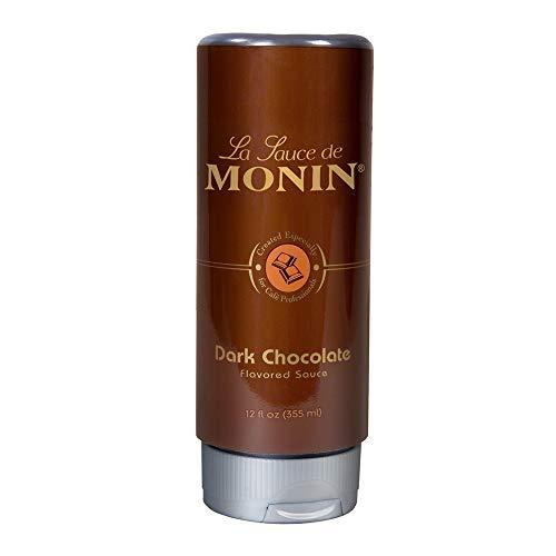 Monin - Gourmet Dark Chocolate Sauce, Velvety and Rich, Great for Desserts, Coffee, and Snacks, Gluten-Free, Vegan, Non-GMO (12 Fl Oz)