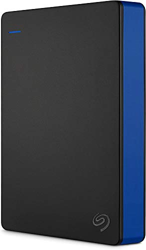Seagate STGD4000400 4 TB Game Drive for PS4, USB 3.0 Portable 2.5 Inch External Hard Drive for Playstation 4 - Black/Blue