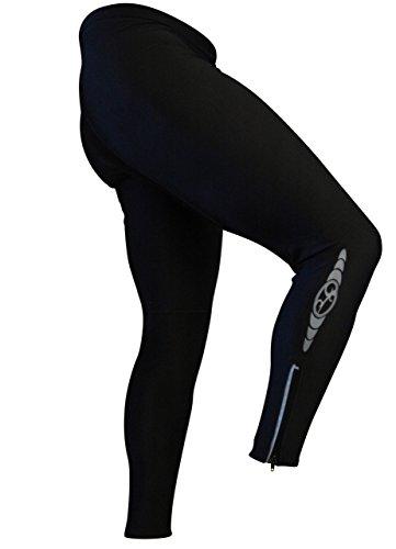 Elite Radfahren Strumpfhosen, Unisex-Erwachsene Damen Herren, schwarz, X-Large