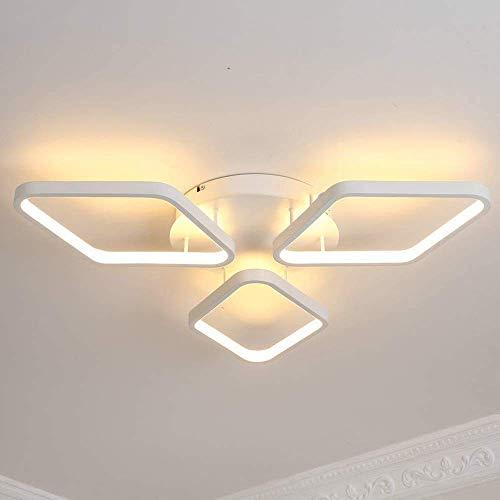 SKSNB Luz de Techo LED para Sala de Estar, luz de Techo de 3 Bombillas, luz de Techo para decoración de Interiores, 42 W, se Utiliza para Pasillo, Dormitorio, Cocina, luz cálida 3000 K