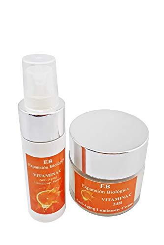 Expansión Biológica Pack Crema Antiarrugas Vitamina C y SPF 6, 50 ml + Serum Facial Vitamina C Iluminador e Hidratante 40 ml