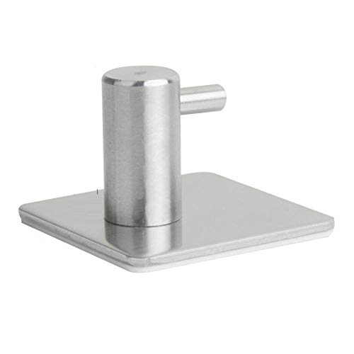 4pcs Strongas Viscosa Metal de metal no perforado Gancho de abrigo SUS304 Abrigo de acero inoxidable Single Hook-C2 resistente a la corrosión fácil de limpiar e higiénico