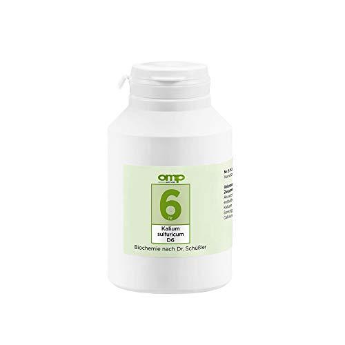 Schüssler Salz Nr. 6 Kalium sulfuricum D6 | 1000 Tabletten | Das Salz der Entschlackung | glutenfrei