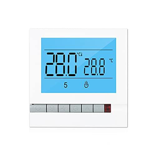 Termostato inteligente programable para calefacción de calderas de agua/gas Pantalla LCD grande con...