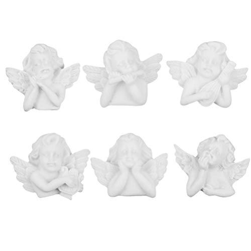 Toyvian Figuras de ángel de resina ángel creativo modelo de resina decoración...
