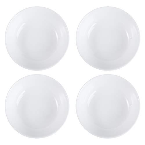 UPKOCH 4 Piezas Cuencos de Salsa de cerámica Blanca Platos de Salsa Platos de condimento Platos de Servir Plato de condimento Sushi Platos de Soja para merienda Sushi Aperitivo de Fruta Postre