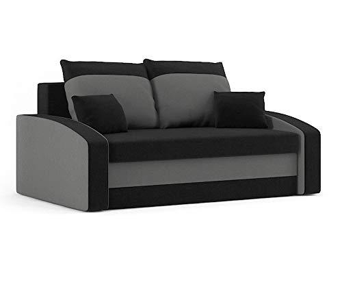 Sofini Sofa Hewlet mit Schlaffunktion! Best Sofa! 2- Sitzer Sofa! (Haiti 17+ Haiti 14)