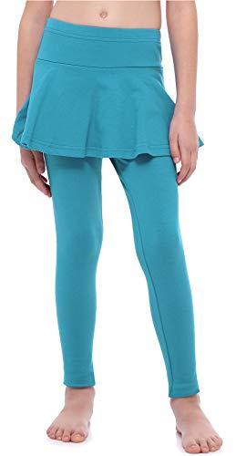 Merry Style Mädchen Lange Leggings aus Baumwolle mit Rock MS10-254 (Türkis, 110 cm)