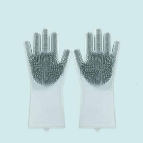 Latexhandschuhe Wasserdichte Handschuhe zum Waschen der Küche und zum Waschen wasserdichter Handschuhe chemikalienbeständige HandschuheGummihandschuhe (Color : White)