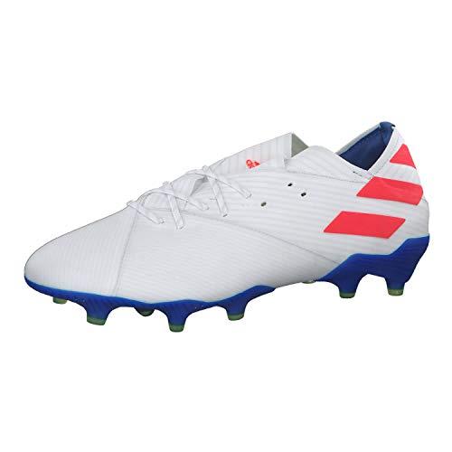 Adidas Nemeziz Messi 19.1 FG, Botas de fútbol Hombre, Multicolor (Ftwbla/Rojsol/Fooblu 000), 48 2/3 EU