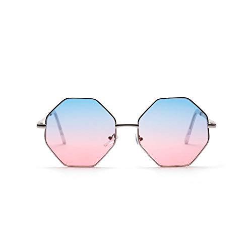 IRCATH Classic Polygon Gafas de Sol para Hombres y Mujeres Espejos Negros Color Cuadrado Lente Transparente UV400 Adecuado para la conducción de Playa y Senderismo-3 Adecuado para Conducir en la Play